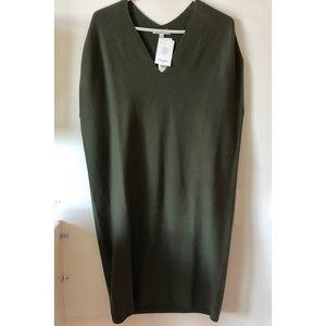 Olive green sweater dress NWT